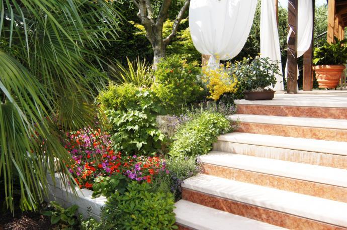Progettazione arredamento giardini verde fontana s a s for Terrazze e giardini